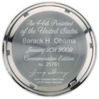 """Ограниченная серия часов Jorg Gray с гравировкой на корпусе """"44-й президент Соединенных Штатов Барак H. Обама"""" и индивидуальным номером"""
