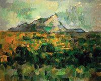 Поль Сезанн, Пейзаж с горой святой Виктории, 1885