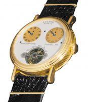 Часы с парящим турбийоном, прыгающим указателем часа и циферблатом типа хронограф (1986 г.)